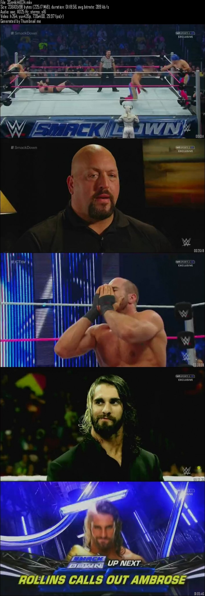 WWE Friday Night SmackDown 24th October (2014)