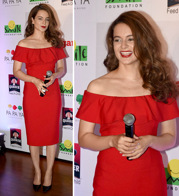 Red Dress, Red Lips and Black Heels! This is how Kangana Ranaut rolls on Christamas!