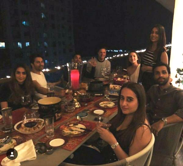 Varun Dhawan dines with rumored girlfriend Natasha Dalal and friends