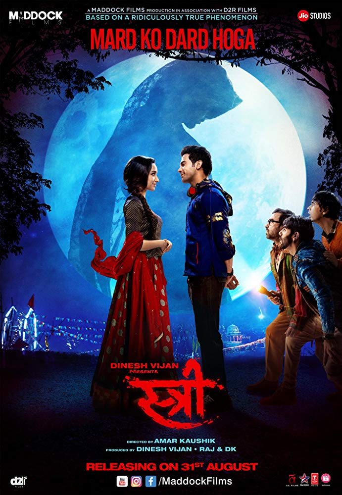 Stree 2018 Hindi 720p HDRip x264 950MB