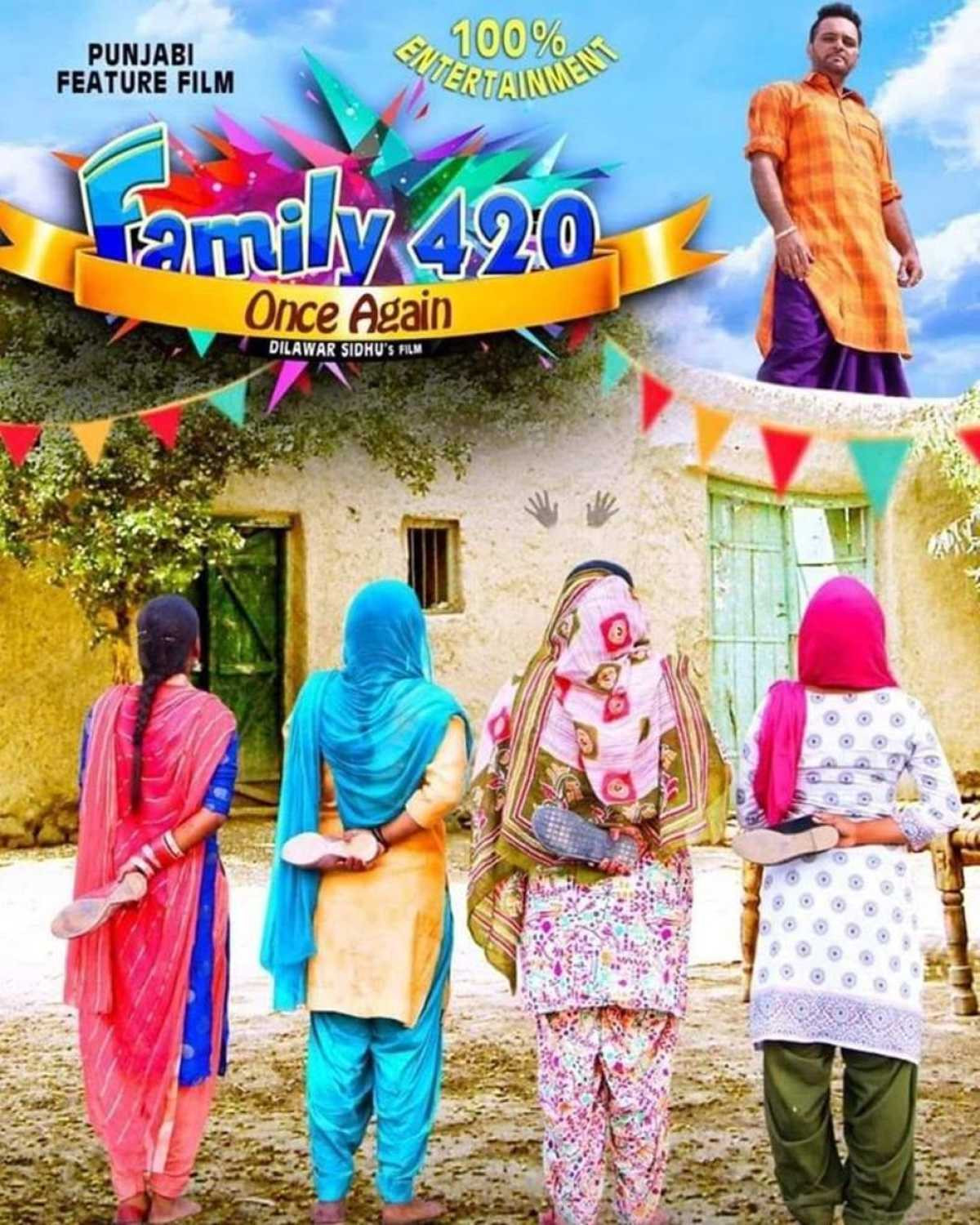 Family 420 Once Again 2019 Punjabi 300MB HDRip ESub