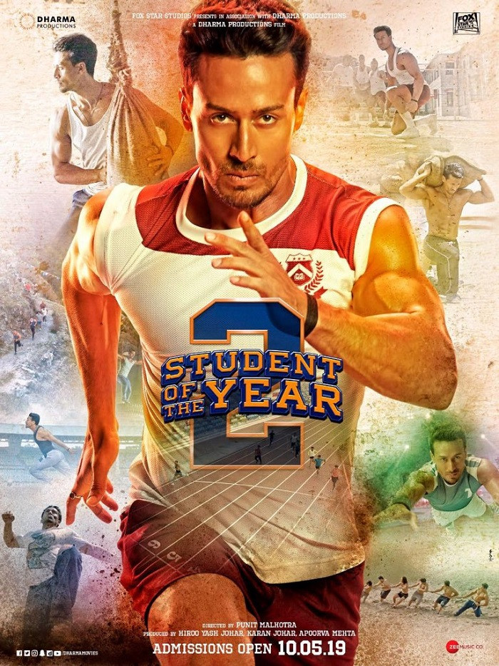 Student Of The Year 2 (2019) Hindi 720p HDRip 900MB ESubs