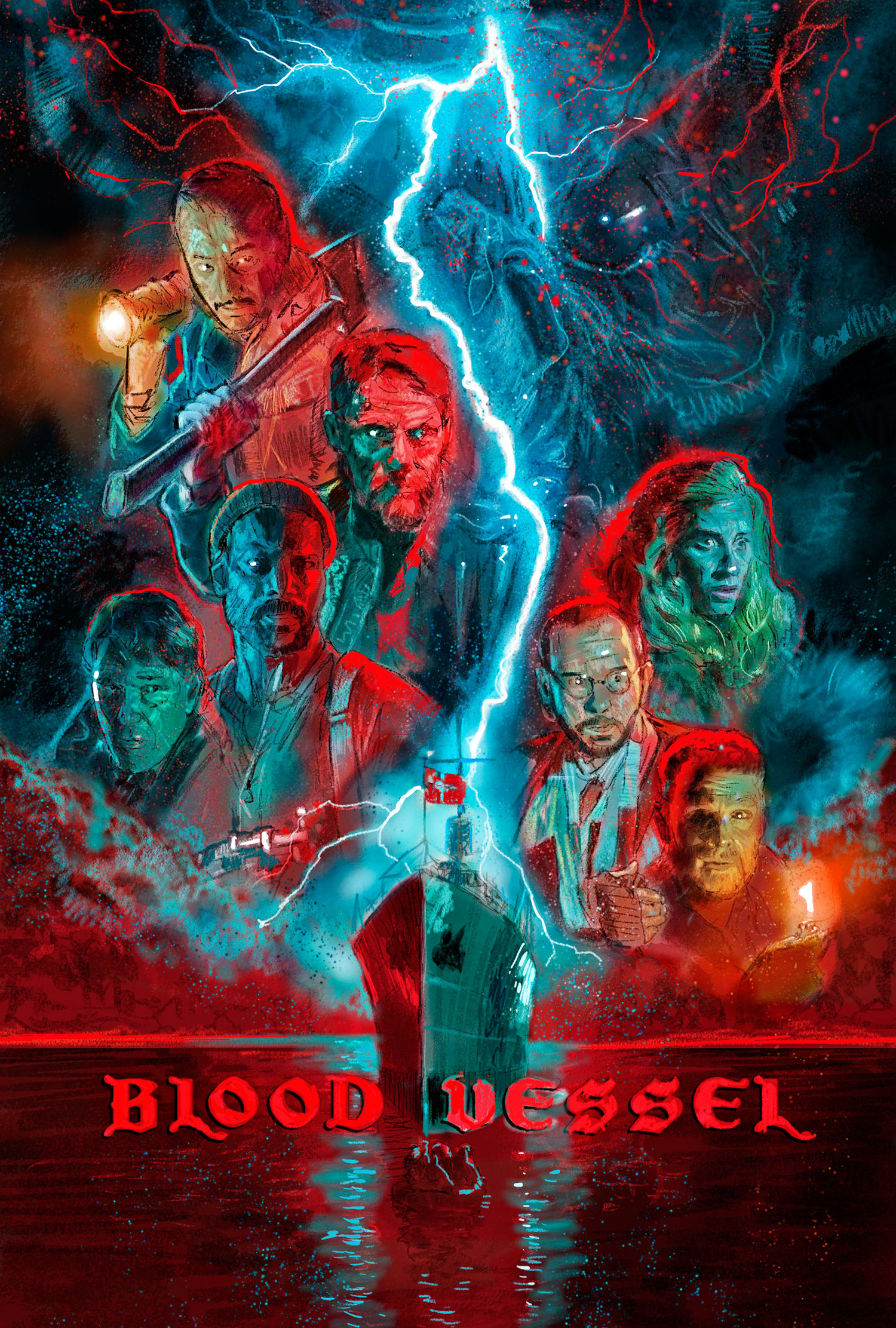 Blood Vessel 2020 English 720p HDRip 300MB ESub 480p